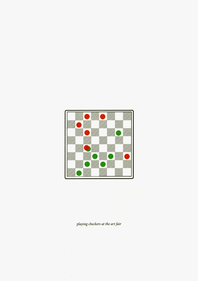 playing checkers at the art fair (online)