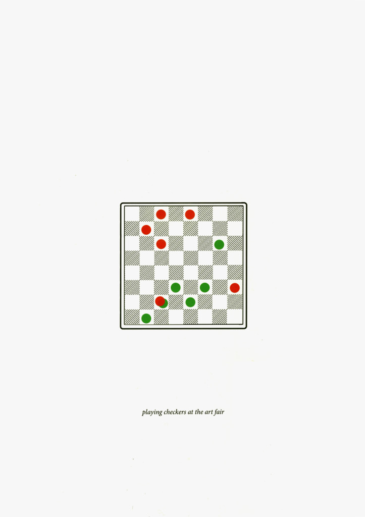 playing checkers at the art fairkopie 2 (online)